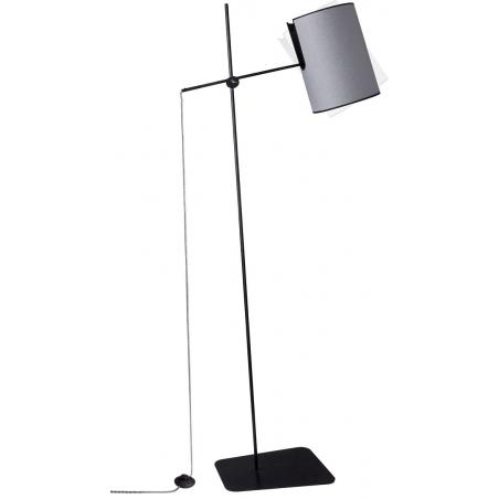 Mill grey floor lamp with adjustable arm