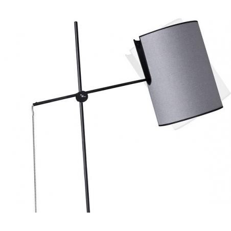 Stylowa Lampa podłogowa z ruchomym ramieniem Mill Szara do czytania.