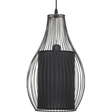 Stylowa Lampa wisząca druciana Figure 26 Czarna do salonu, sypialni i przedpokoju.