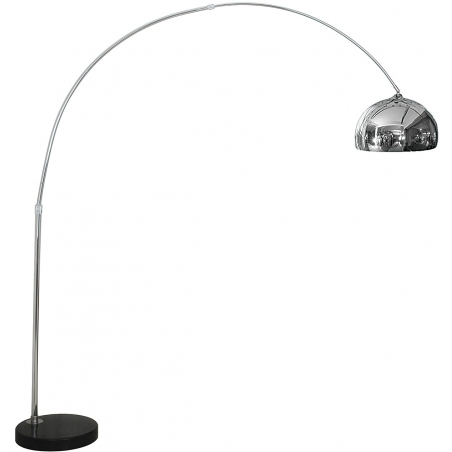 Cosmodernism chrome tall arched floor lamp