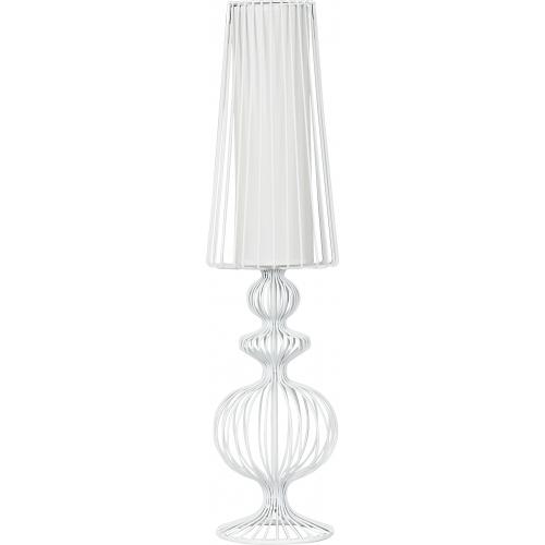 Designerska Lampa stołowa druciana Class L 20 Biała do sypialni.