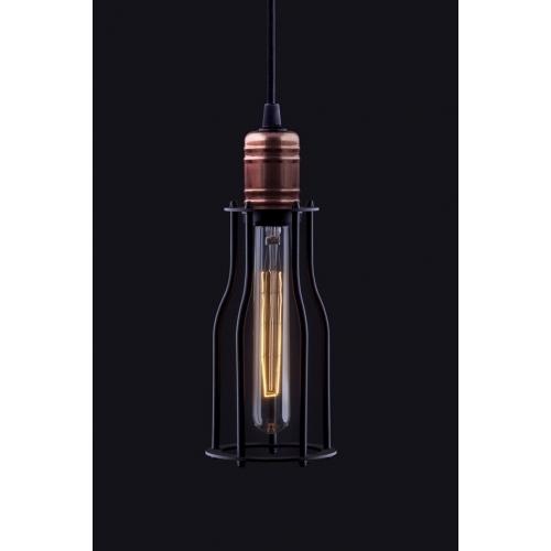 Industrialna Lampa wisząca druciana Laboratory 10 do salonu. Kolor: czarny w cenie 149
