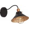 Gerrard 25 dark brown industrial wall lamp