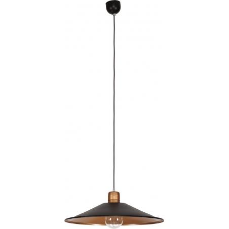 Stylowa Lampa wisząca industrialna Gerrard 50 Ciemny brąz do salonu i sypialni.
