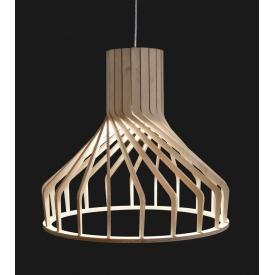 Skandynawska Lampa wisząca ze sklejki Wooden A 38 Brzoza do salonu i sypialni.
