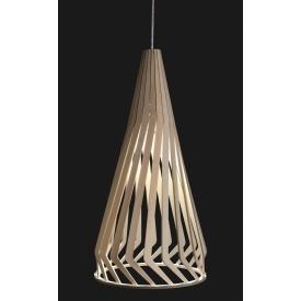 Skandynawska Lampa wisząca sklejki Wooden B 34 Brzoza do salonu i sypialni.