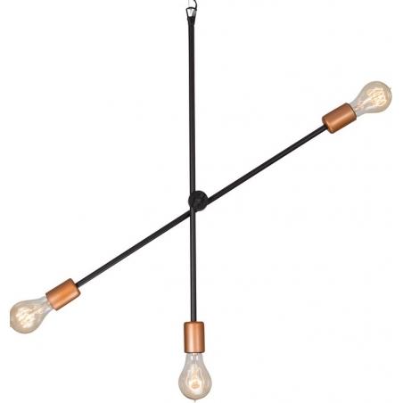 Industrialna Lampa wisząca Staff do salonu. Kolor: miedziany w cenie 219