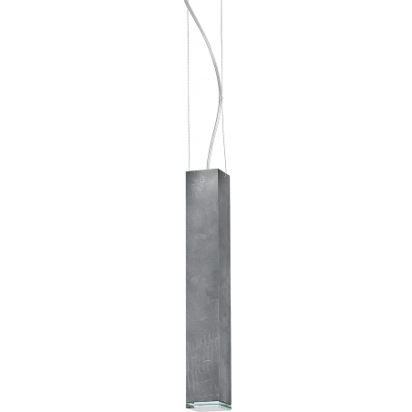 Block 41 grey tube pendant lamp