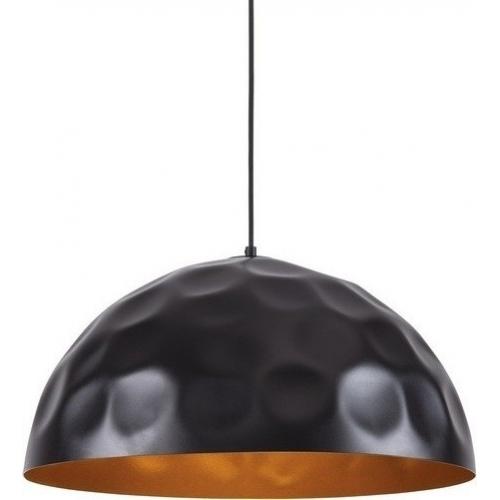 Stylowa Lampa wisząca industrialna Vault Plus 50 Czarna ze Złotym do salonu i sypialni.