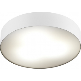Stylowy Plafon sufitowy Ring 40 do salonu. Kolor biały