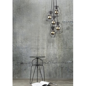 Stylowy Plafon sufitowy Spotlight S 14 do salonu. Kolor biały, srebrny. Styl minimalistyczny.