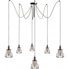 Laboratory VI black wire pendant lamp