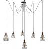 Stylowa Lampa sufitowa druciana Laboratory VI do salonu. Kolor czarny