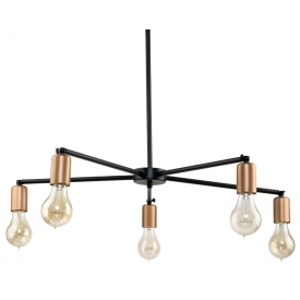 Staff V black industrial semi flush ceiling light