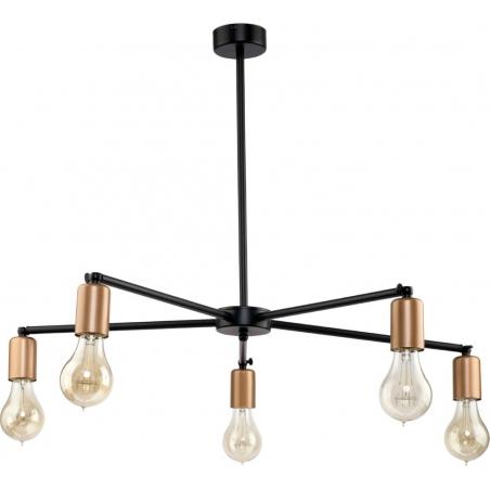 Staff V black industrial semi flush ceiling light