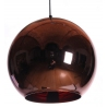 Brass 30 copper glass ball pendant lamp