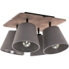 Livid IV grey wooden ceiling spotlight