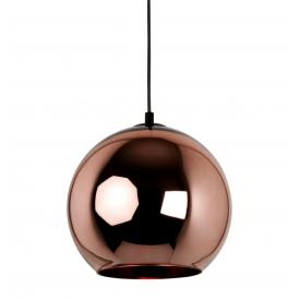 Designerska Lampa wisząca szklana kula miedziana Brass 40 do salonu i sypialni.