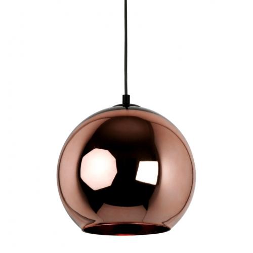 Miedziana lampa wisząca Brass 40 do salonu. Kolor miedziany