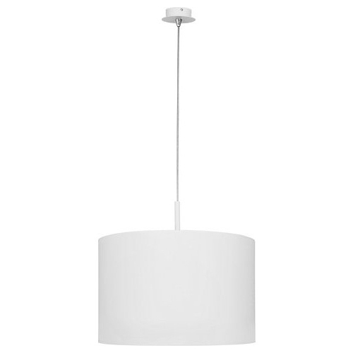 Klasyczna Lampa wisząca z abażurem Delicate 37 Biała do salonu i sypialni.