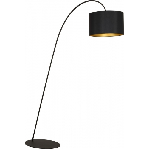 Delicate Floor black arched floor lamp with shade