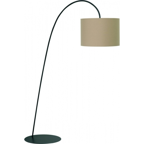 Delicate Floor coffee arched floor lamp with shade