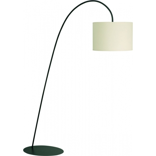 Delicate Floor ecru arched floor lamp with shade