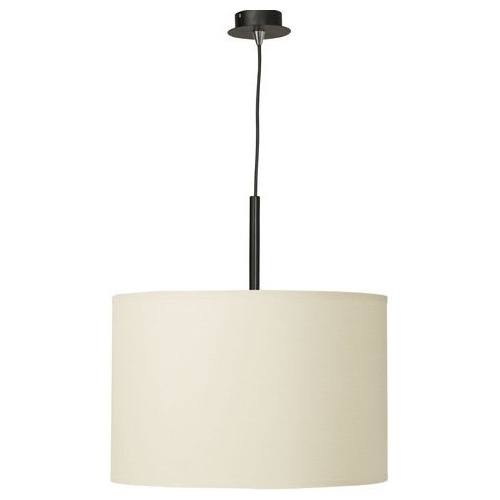 Delicate 37 ecru pendant lamp with shade