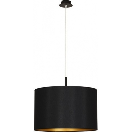 Delicate 37 black pendant lamp with shade