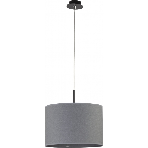 Delicate 37 grey pendant lamp with shade