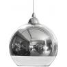 Szklana lampa wisząca Planet 20 do salonu. Kolor miedziany
