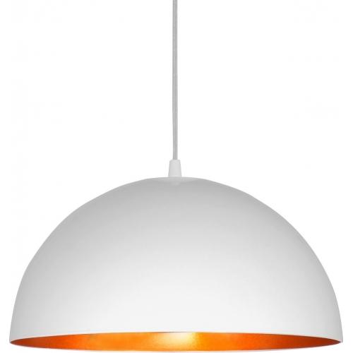 Stylowa Lampa wisząca Vault White S 34 Biało-Złota do salonu, sypialni i przedpokoju.