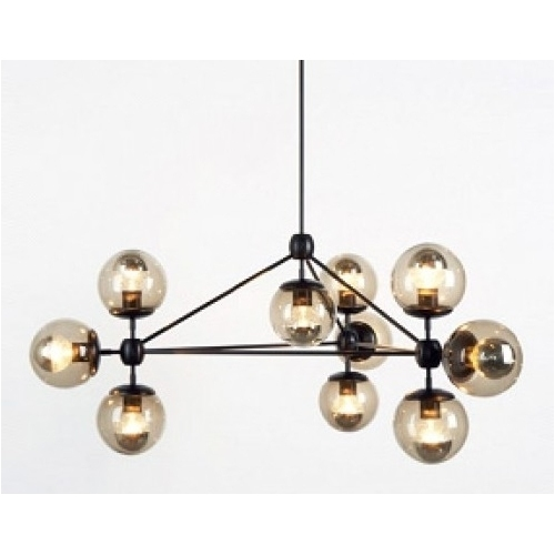 MDO 10 insp. Modo Roll Hill amber&blackdesigner semi flush ceiling light