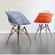 Fotel Cup insp. Swan Chair Leather