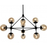 Astrifero 10 amber adjustable glass semi flush ceiling light Step Into Design
