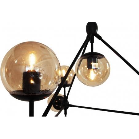 Stylowa Regulowana Lampa sufitowa szklana Astrifero 10 Bursztynowa Step Into Design do salonu i kuchni.