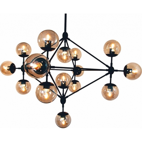 Lampa wisząca Astrifero 15 Step Into Design do salonu. Kolor bursztynowy