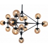 Stylowa Regulowana Lampa sufitowa szklana Astrifero 15 Bursztynowa Step Into Design do salonu i kuchni.