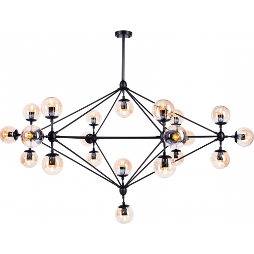Astrifero 21 amber glass semi flush ceiling light Step Into Design