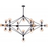 Astrifero 21 amber glass semi flush ceiling light Step Into Design