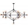 Stylowa Lampa sufitowa szklana Astrifero 21 Bursztynowa Step Into Design do salonu i kuchni.