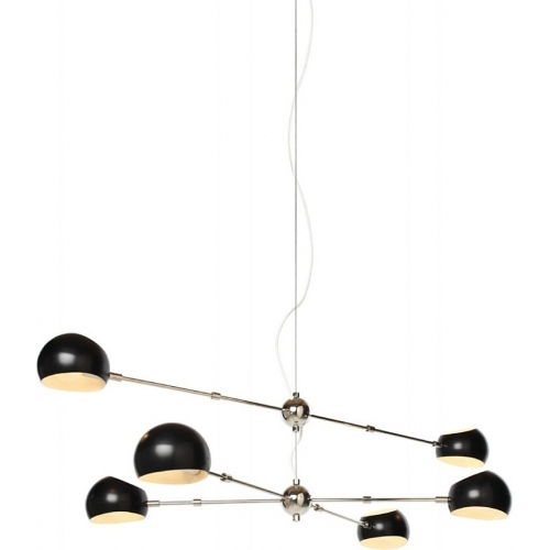 Designerska Lampa wisząca Astronomy VI Czarna Step Into Design do salonu i sypialni.