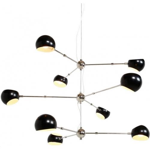 Designerska Lampa wisząca Astronomy IX Czarna Step Into Design do salonu i sypialni.