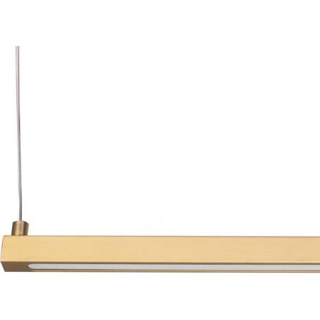 Stylowa Lampa sufitowa mosiężna Beam 120 LED Step Into Design nad stół. Kolor złoty. Styl inspirowane.