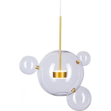 Designerska Lampa wisząca szklana kula Bubbles I/III LED Przezroczysta Step Into Design do salonu i sypialni.