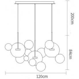 Klasyczna lampa sufitowa Feysa Metalic o surowej fabrycznej formie