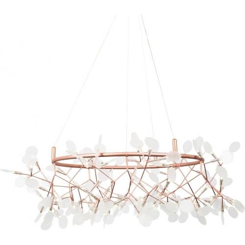 Stylowa Lampa wisząca Chic Botanic 105 LED Step Into Design do salonu. Kolor miedziany