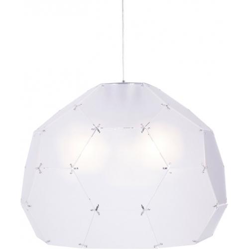 Stylowa Lampa wisząca Dome 80 Step Into Design nad stół. Kolor przeźroczysty