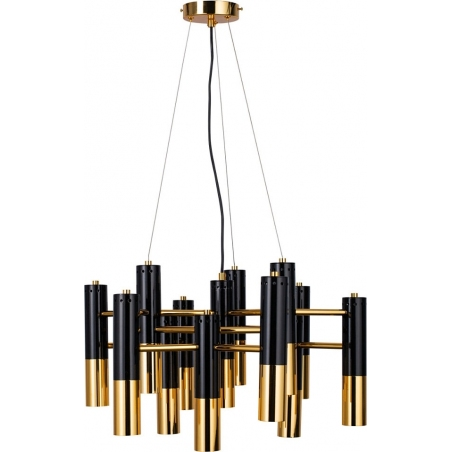 Stylowa Lampa sufitowa Golden Pipe XIII Step Into Design nad stół. Kolor czarny