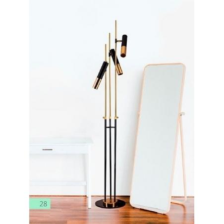 Stylowa Lampa podłogowa Golden Pipe Step Into Design do czytania. Kolor czarny. Styl nowoczesny.